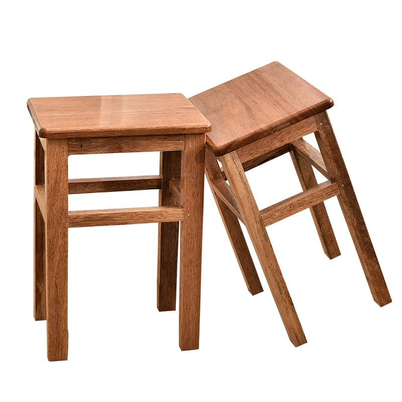 Solid Wood Dining Bar Stool Home Restaurant Stool Dining Chair Makeup Wooden Stool High Reinforcement Board School Student Stool