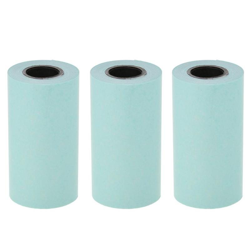 3 Rolls Printing Paper Sticker Paper Thermal Adhesive Photo Paper For Mini Pocket Photo Printer Paperang Receipt Papers
