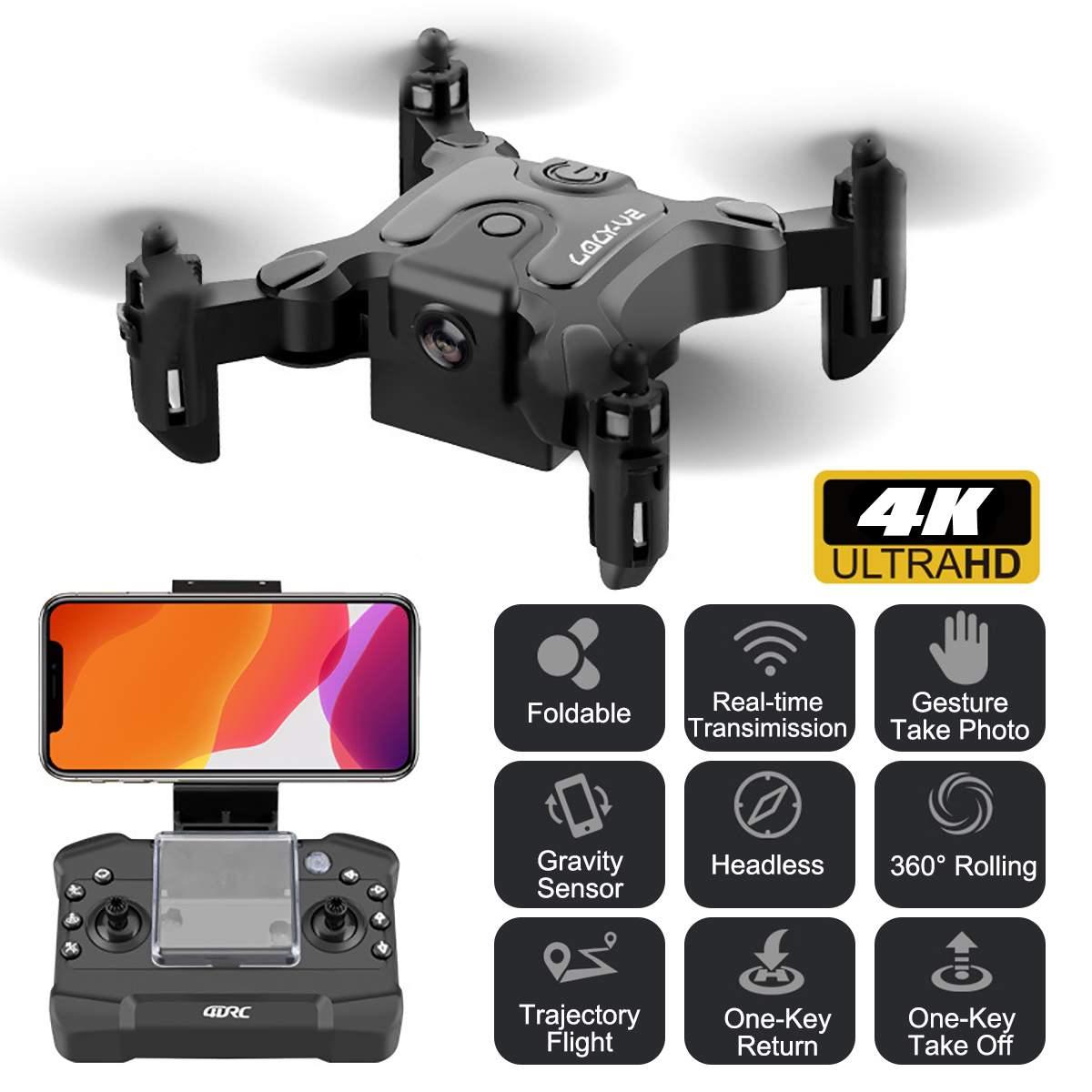 Мини-Дрон с 4K камерой HD складные дроны Квадрокоптер возврат одной кнопкой FPV Follow Me Радиоуправляемый вертолет Квадрокоптер детские игрушки