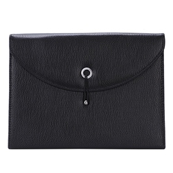 Расширяемый портативный портфель из искусственной кожи, деловой органайзер для файлов, сумка формата А4 и буквы, размер 13 карманов (черный)