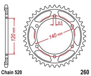 Image 2 - 520 אופנוע חלקי אחורי סבבת עבור הונדה XR250L XR 250L 1991 1996 XL250R XL 250R 1984 1987 XL250 R באחה Baja250 1991