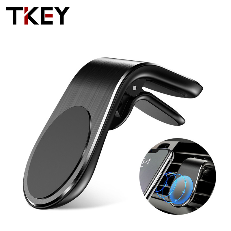 TKEY 360 Metal Magnetic Car Phone Holder Mount Stand For IPhone 11 Xiaomi Samsung Car Air Vent Magnet Stand In Car GPS Holder