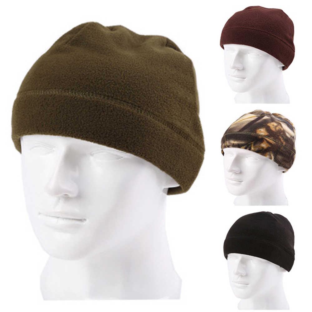 1PC 2020 Unisex Outdoor Fleece หมวก Camping Hiking หมวกฤดูหนาวที่อบอุ่นหมวกหมวกตกปลาขี่จักรยานการล่าสัตว์ทหารยุทธวิธีหมวก