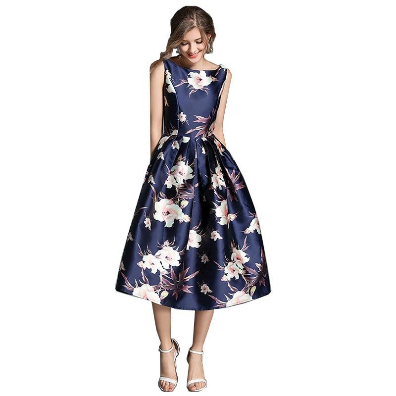 Vintage Stylish Sleeveless  Dress Elegant A- Line Dress Sexy Paty Prom Cocktail dress