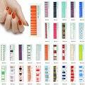 22 шт./лот наклейки для дизайна ногтей самоклеющиеся геометрические Мультяшные дизайнерские накладки для ногтей гелевые накладки для ногте...