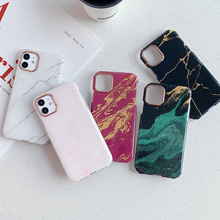 Classic Bronzing Marble Texture Phone Case For iPho