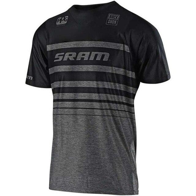 Nouvelle course descente SRAM maillot VTT moto cyclisme Crossmax chemise Ciclismo vêtements pour hommes vtt MX T FXR SRAM DH