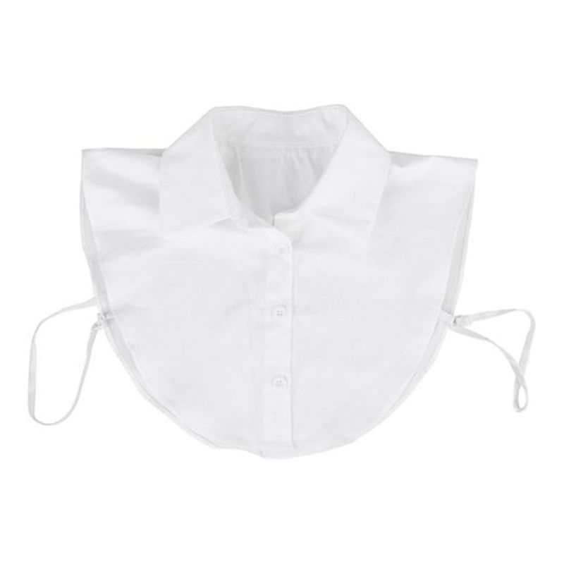 Gleader Women's Detachable Half Shirt Blouse Collar White