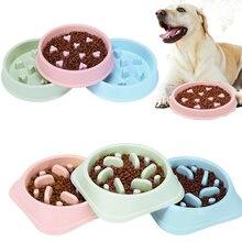 Anti Choke Pet Feeder Useful Cat Dog Slow Down Eating Food Bowl Puppy Prevent Obesity Healthy Diet Plastic Feeding Dish