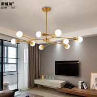 Northern Europe Concise Golden A Living Room A Chandelier Branch Lamp Modern Designer Bedroom Restaurant Geometry Molecule|Pendant Lights| |  -