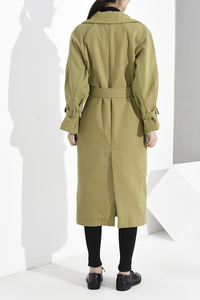 Image 5 - LANMREM נשים להנמיך צווארון פנאי מלא שרוול טלאים רחב מעיל גשם להאריך ימים יותר כפול פנים Loose 2020 החדש 19F a68