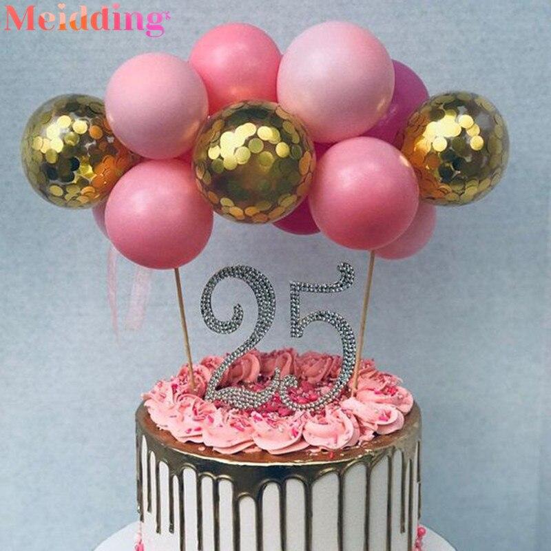 Incredible Glitter Diamond Studded Number Cake Toppers Baby Shower Birthday Funny Birthday Cards Online Amentibdeldamsfinfo
