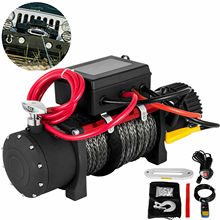 13500 LBS Electric Truck Winch12v Electric Winch ATV Synthetic Rope with Remote Control Winch 6123.5Kg Gear Train Roller