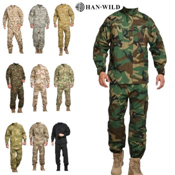 Tactical Camouflage Military Uniform Clothes Suit Men Waterproof  Abrasion Resistant Army Military Combat Jacket + Cargo Pants bdu tactical camouflage military uniform clothes suit men us army clothes airsoft military combat shirt cargo pants