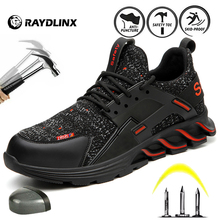 RAYDLINX Sneakers Men's Safety Shoes Boots With Steel Toe Cap Casual Men's Boots Work Indestructible Shoes Puncture-Proof Work