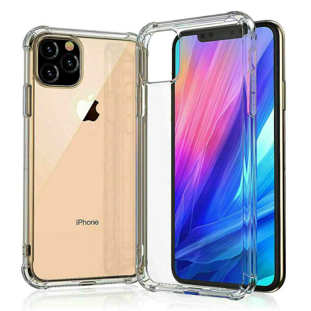 For iPhone 11 2019 Case Slim Clear Soft TPU Cover Support Wireless Charging for iPhone 11 Pro Max 5.8inch 6.1inch 6.8inch New