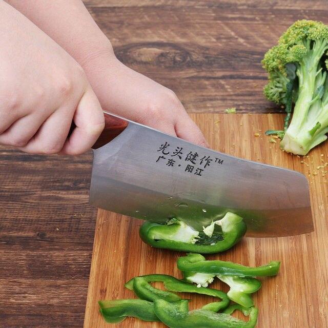 קליבר סכין יפן מטבח שף סכיני עץ ידית בשר פירות ירקות דגים הקצב סכין קופיץ סיני גבוהה פחמן סכינים