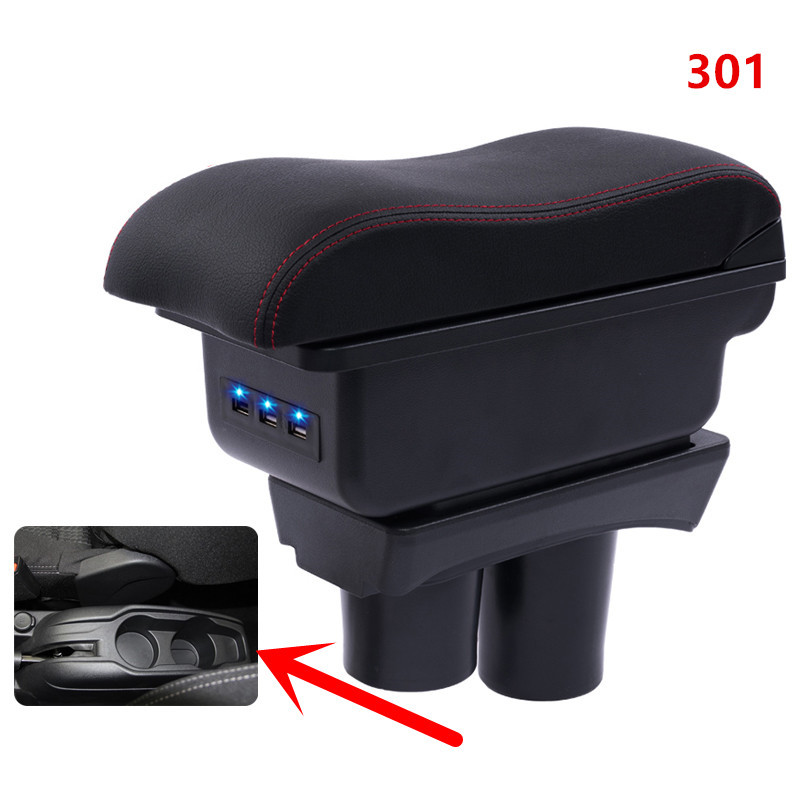 시트로엥 C-Elysee Elysee 푸조 301 팔걸이 상자 중앙 저장소 내용 저장 상자 컵 홀더 재떨이 USB 인터페이스