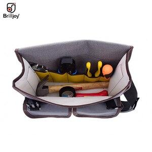 Image 4 - Wielofunkcyjna torba pojedyncza torba na ramię sprzęt elektryk Toolkit torba na narzędzia wodoodporna odporna na zużycie tkanina Oxford