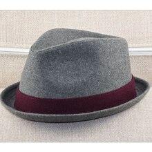 Sombrero Fedora de talla grande para hombre, sombrero de fieltro de lana, Formal, para fiesta de invierno, Jazz, 57 58cm, 59 60cm, 60 62cm