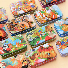 Free delivery 60 pieces of wooden childrens early education educational cartoon jigsaw puzzle