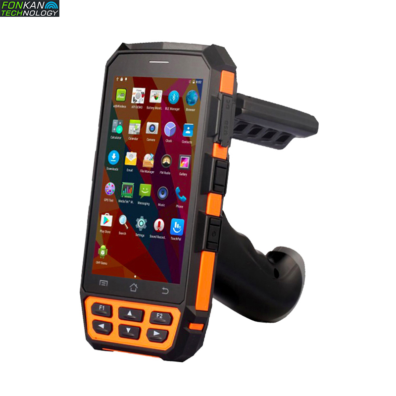 FONKAN Rfid UHF Reader Scanner R2000 Module Bluetooth Wifi Communication 4G Handheld Inventory With Android7.0