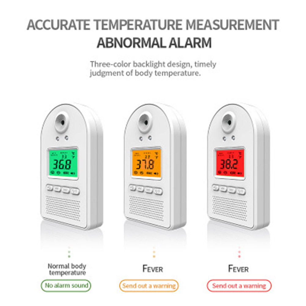 Non-contact Infrared Temperature Wall Mount Smart Sensor Automatic Temperature Detector with Digital display Alarm AS99