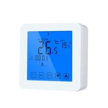 Сенсорный экран регулятор температуры цифровой терморегулятор черный Задний светильник электрическое Отопление комнатный термостат 7 дней программируемый