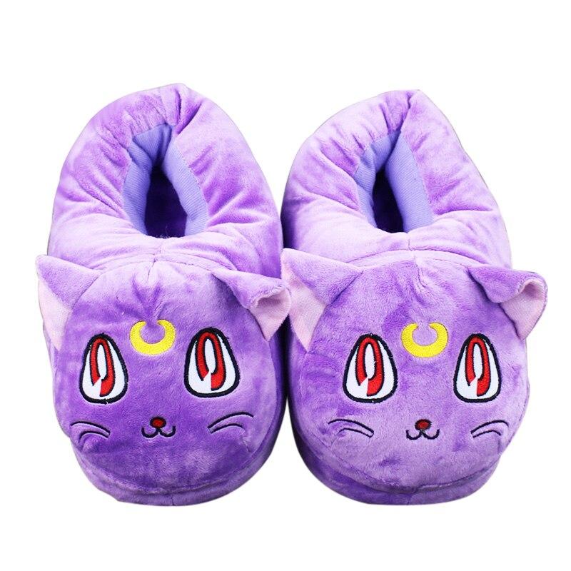 27cm Sailor Moon Luna Plush Toys Cute Shoes Soft Stuffed Slippers Shoes