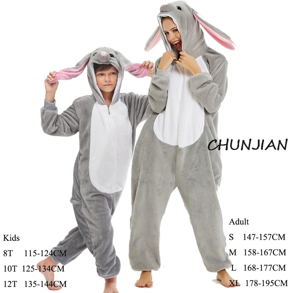 Girls Rabbit Animal Kigurumi Pijamas For Adult Boys Blanket Sleeper Onesie  Unicorn Kids Piglet Costume Kids Onesie - Super Promo #2E99 | Cicig