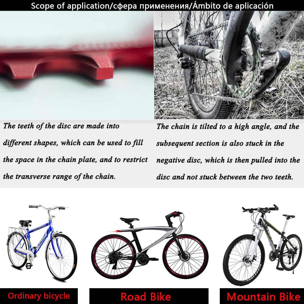 จักรยาน Crank 104BCD รอบรูปร่างแคบกว้าง 32 T/34 T/36 T/38 T MTB Chainring จักรยาน Chainwheel จักรยานวงกลม Crankset เดี่ยวแผ่น