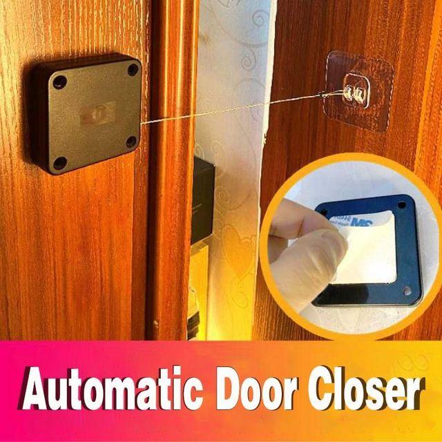 Door Closer Punch-Free Automatic Door Closers For Drawers Rawstring Door Closer Bracket Door Automatic Closer 2