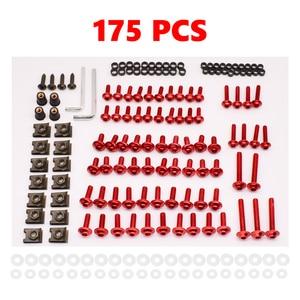 175 pièces pour Suzuki GSX650F HAYABUSA GSXR1300 SV TL 1000 universel moto carénage corps boulons Kit attache Clips vis écrous