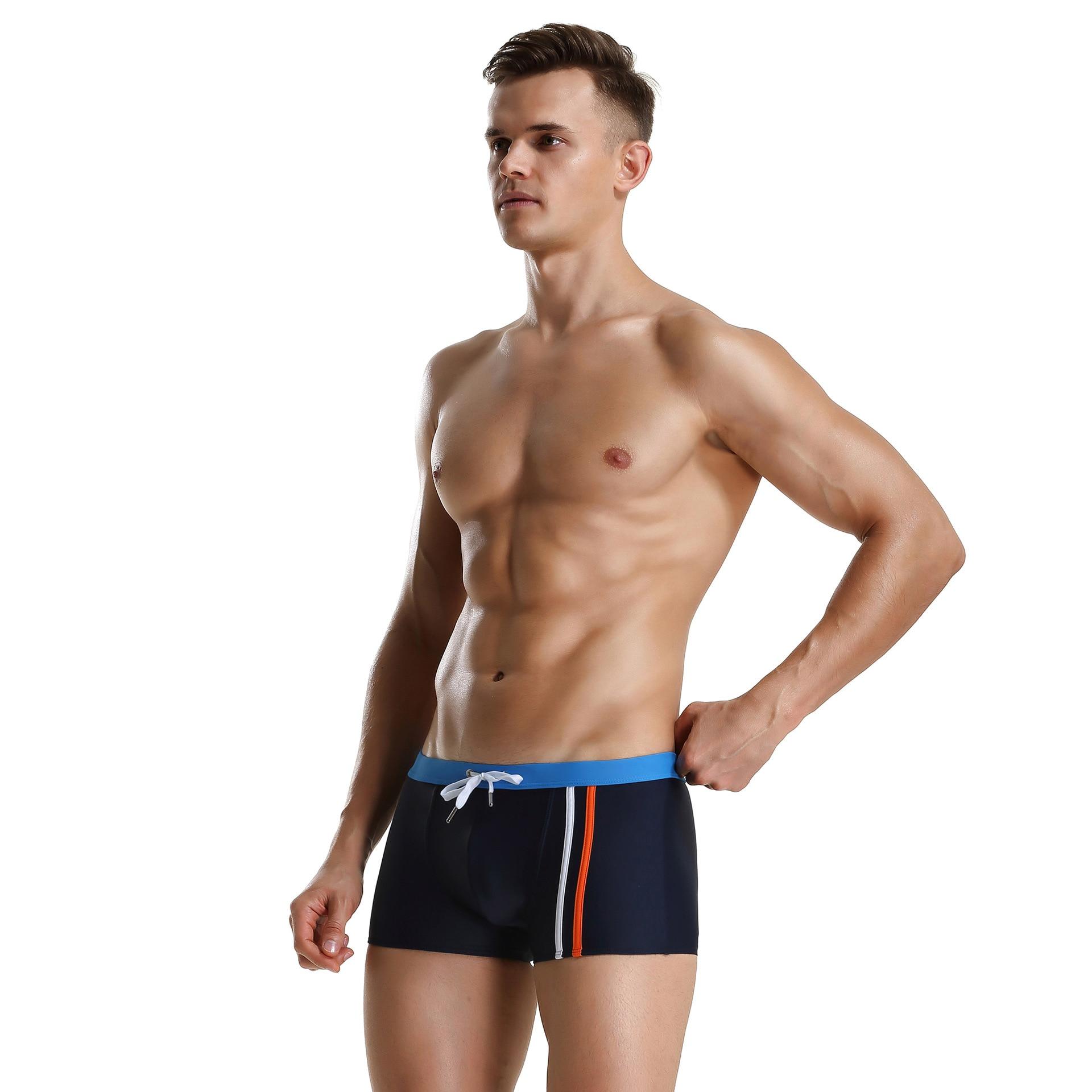 Foreign Trade 2018 Summer New Style Men AussieBum Men's Low-Rise Swim Shorts Manufacturers Wholesale Men's Bathing Suit