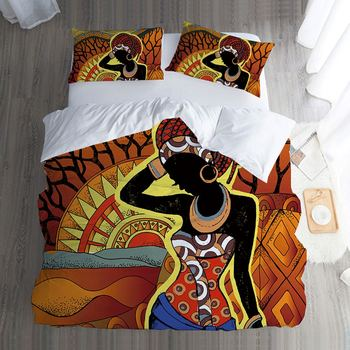 Exotic Style African Print Bedding Set Twin Full Queen King Single Double Size Duvet Cover Pillowcase Beautiful Home Textiles