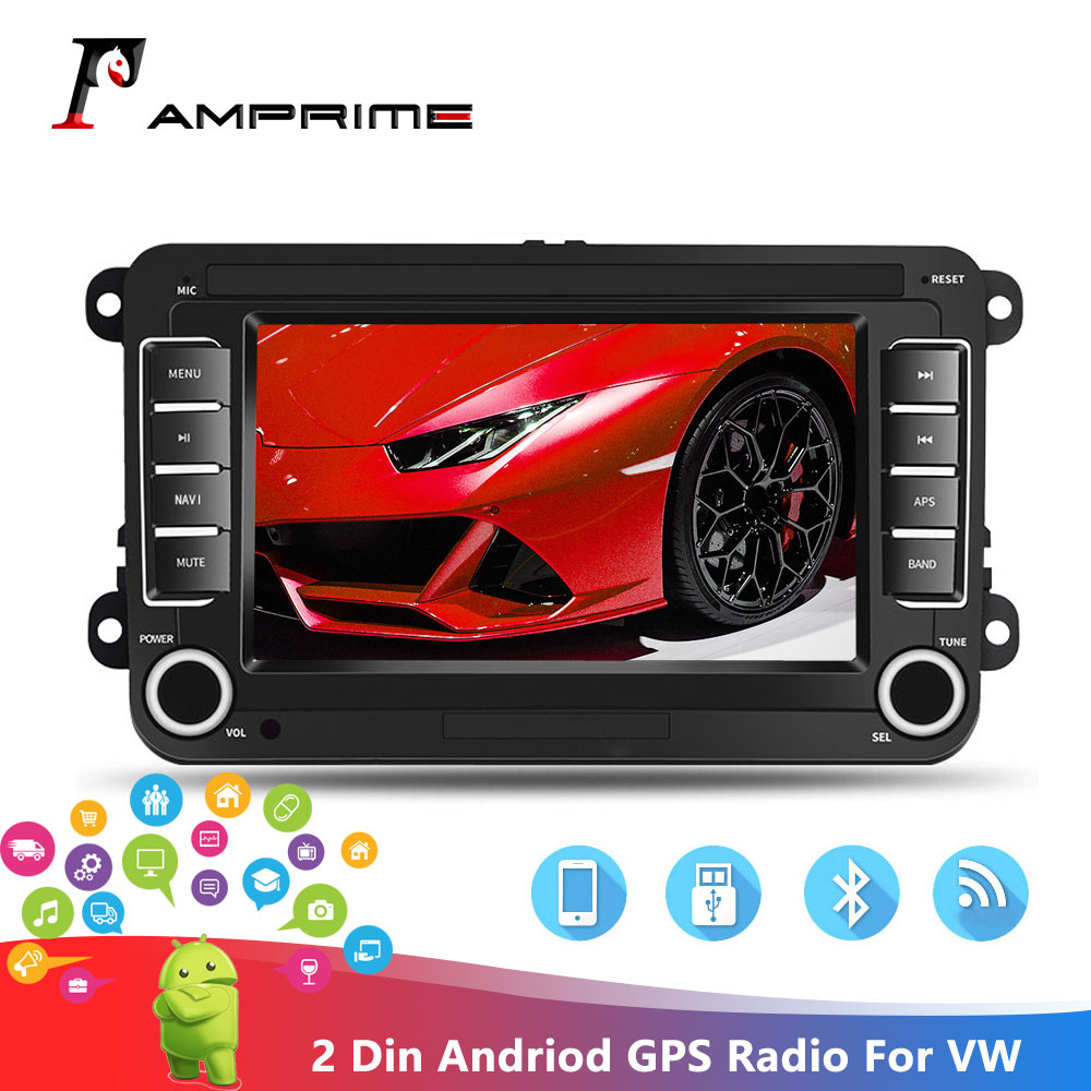 "AMPrime Android MP5 Multimedia Player 2din Car Radios GPS 7"" Wifi Audio Stereo For Seat/Skoda/Passat/Golf/Polo Bluetooth Radio"