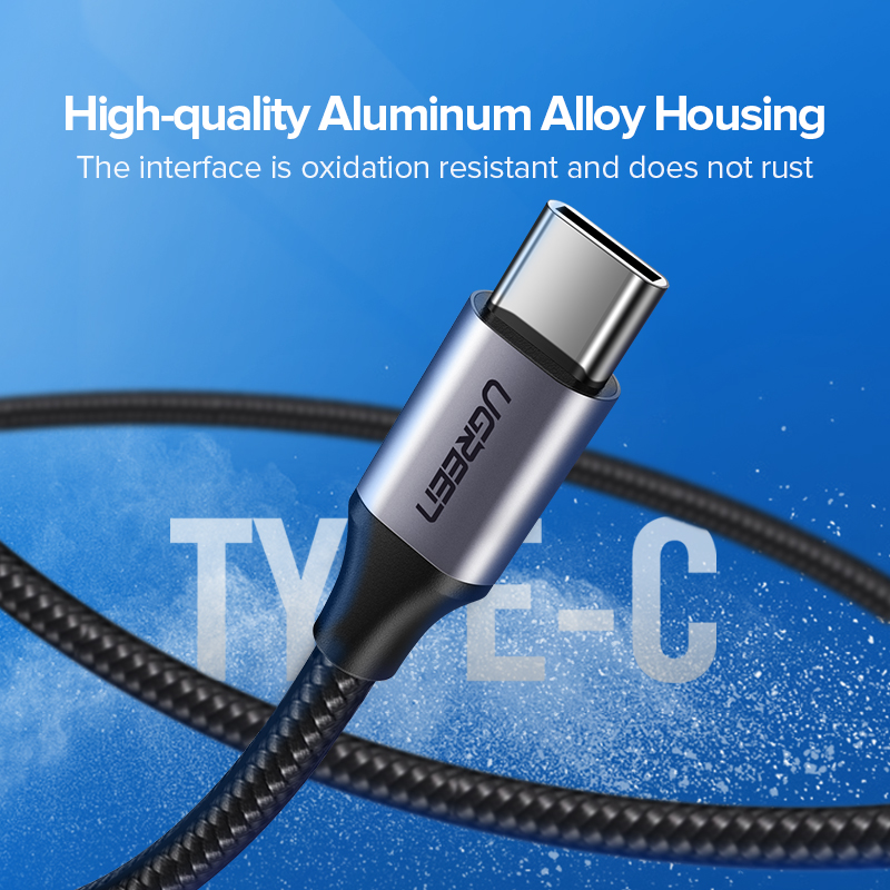 Ugreen USB Type C Cable for Samsung S10 S9 3A Fast USB Charging Type-C Charger Data Cable for Redmi note 8 pro USB-C Cabo Wire Pakistan