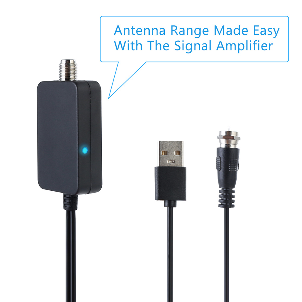 Smart HDTV Antenna Amplifier Signal Booster For Cable TV Aerial Adapter USB Low Noise Easy Installtion Digital HD DVB-T2 ATSC