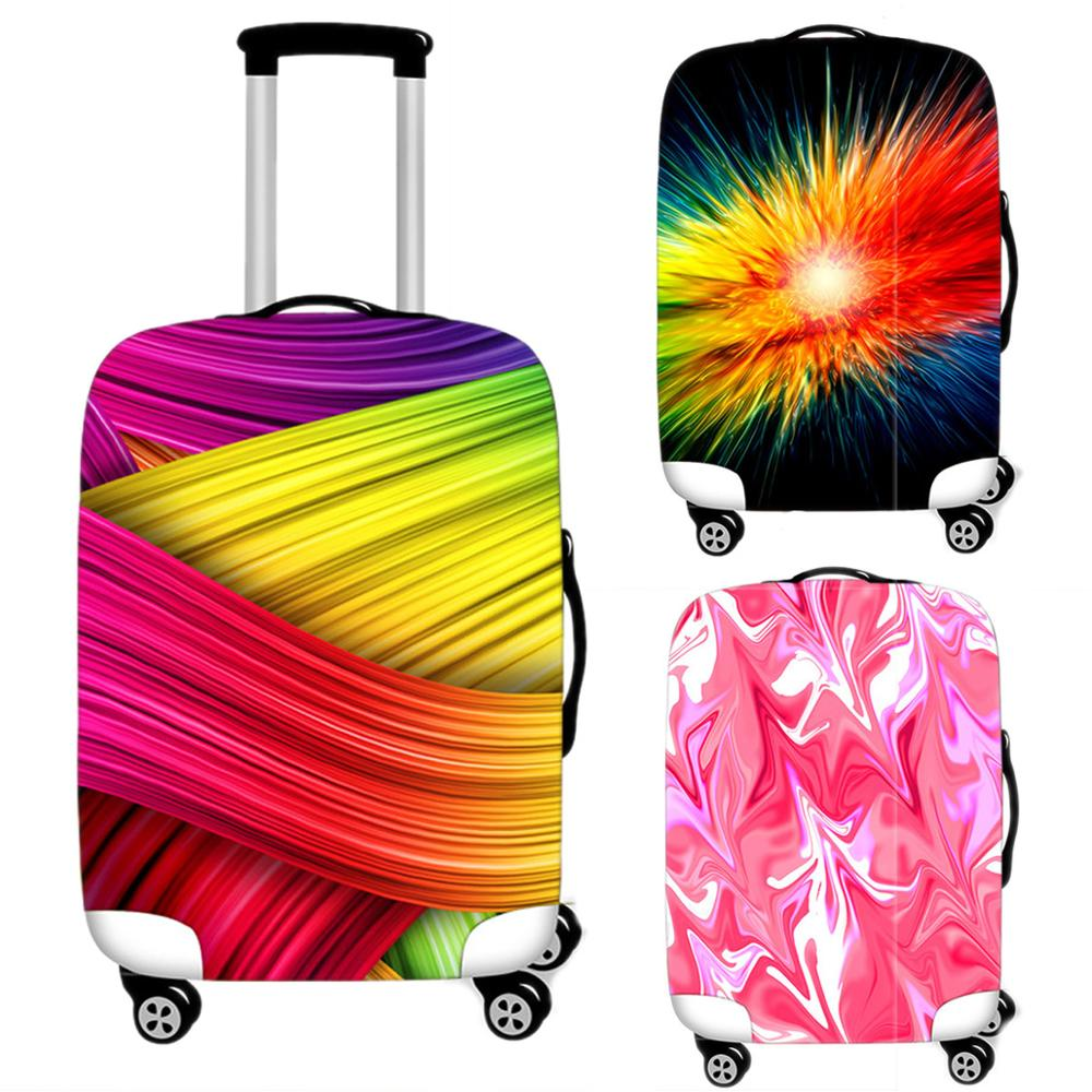 Travel Accessories Creative Luggage Case Protective Cover Waterproof Thicken Elastic Printing Suitcase Trunk Case 18-32 Inch XL