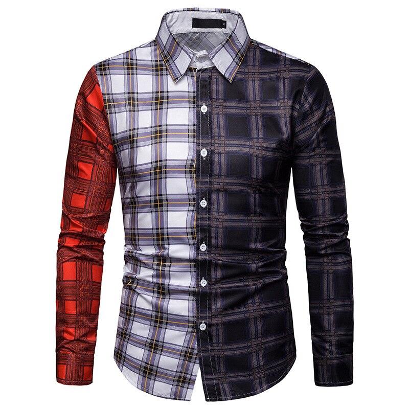 Mens Long Sleeve Shirt Cool long sleeve shirt men  shirts autumn printing Casual