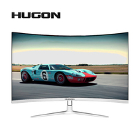 HUGON 32 inch MVA 1920 * 1080p HD 1080P LED 75Hz Display Game contest curved Widescreen 16:9 VGA / HDMI Display