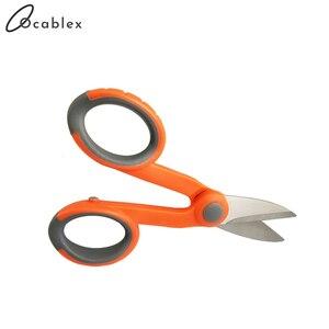 Image 1 - 10 sztuk/partia nożyce Kevlar wygodne włókna kabel ze zworką nożyczki narzędzie tnące do światłowodu włókno aramidowe
