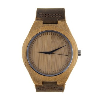 Luxury Mens Womens Bamboo Wood Watch Quartz PU Leather Wristwatches New Hot Selling