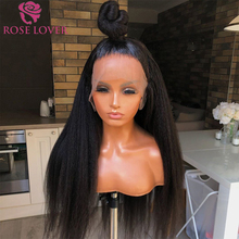 Straight Wig Lace-Wig Human-Hair Glueless Pre-Plucked Full-Lace 250%Density Kinky Women