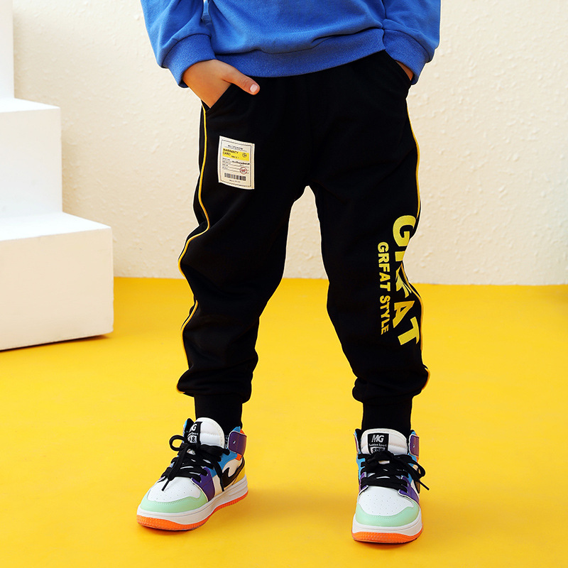 New Kids Boys Girls Pants Sports For 3-10 Yeas Fashion Print Letter Casual Sport Cotton Children Trousers Running Autumn Winter 1