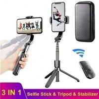 Tongdaytech stabilizzatore cardanico palmare anti-vibrazione con treppiede per Selfie Stick compatibile Bluetooth per Iphone Samsung Xiaomi Smartphone