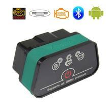 원래 Vgate iCar2 OBD2 스캐너 Elm327 블루투스 OBDII 자동차 진단 도구 iCar 2 Elm 327 OBD 2 안드로이드 PC 용 자동 스캔
