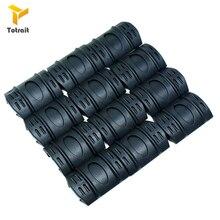 цена на TOtrait 12 Pcs a Lot Tactical Picatinny Quad rail Rubber Covers Accessories Hunting Rubber Rail Covers Hunting Accessories