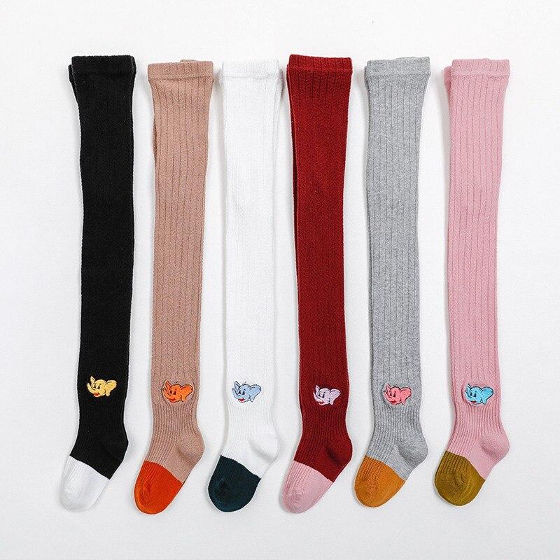 2pcs Kids Girl Boy Cartoon Socks Cute Knee High Hosiery In tube sock Fit 1-6Y