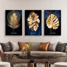 Картина на холсте с изображением золотых искусств роскошный
